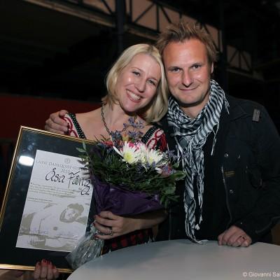 Stipendiaterna Åsa Fång och Stefan Andersson hyllades på jubileumsfesten